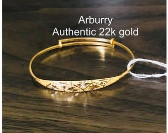 Baby's bangle 22k 916 gold purity