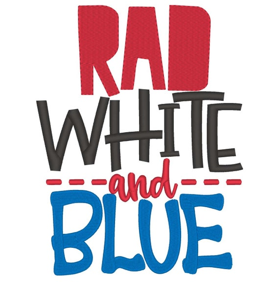SAMPLE SALE, Rad White and Blue - Girls 4th of July Shirt - Boys 4th of July Shirt - Kids Patriotic Shirt - Independence Day Shirt