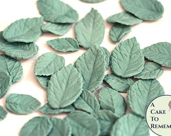 Edible leaves cake decoration 30 edible wedding cake leaves. Wedding greenery, add to gumpaste flowers for cupcake decorating