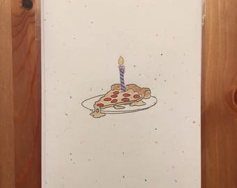 pizza card | pizza party | birthday | party | all occasions greeting card
