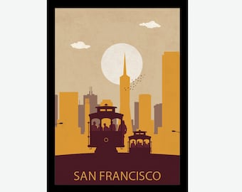 San Francisco print, San Francisco art, San Francisco artwork, San Francisco poster, San Francisco illustration, San Francisco art work