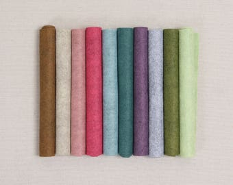 Wool Felt // Heathered Collection // Wool Felt Sheets, Felt Flowers, Fall Wreaths, Felt Garland, Felt Fabric, Heathered Colors, Doll Making