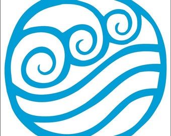 Water Tribe Decal / Sticker -Choose Size & Color- Avatar The Last Airbender