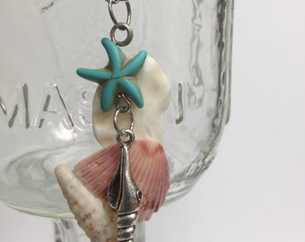 Turquoise Starfish Beach Comber  Necklace