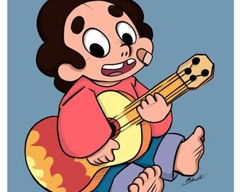 Baby Steven - Fanart print - Steven Universe