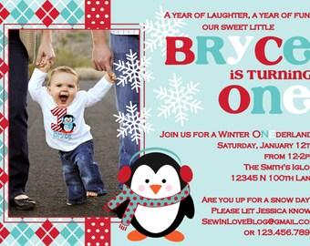 Winter ONEderland Party Invite