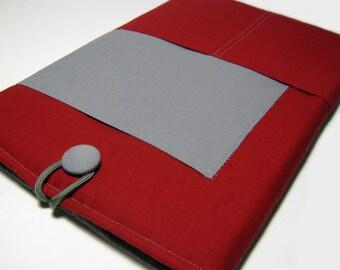 Macbook Air Case, Macbook Air Cover, Macbook 12 inch Case, 11 Inch Macbook Air Case, Laptop Sleeve, Solid Red & Gray