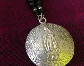 UNIQUE Silver Virgin Mary Necklace