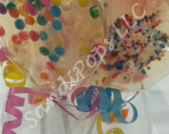 12 BIRTHDAY -Glittery, sparkly, flavorful hard candy lollipops