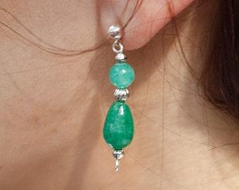 Jade Earrings Green