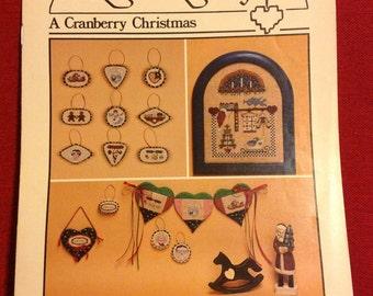 A Cranberry Christmas!        Heartstrings cross stitch pattern.