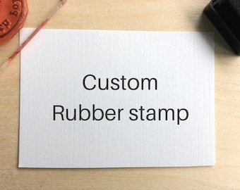Custom made business rubber stamp - Made to order stamps - Rubber stamp makers mark - Custom stamp logo - Personalized custom stamp