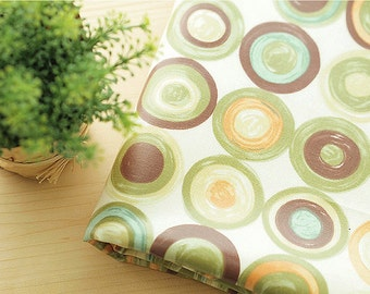 Laminated Oxford Cotton Fabric Circle in 2 Colors By The Yard