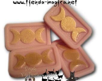 Pack of four mini soaps Triple Moon (the Triple Goddess)/pack of four mini Triple moon Soaps (triple Goddess)