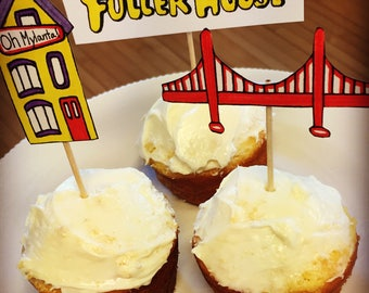 Fuller House Cupcake Toppers