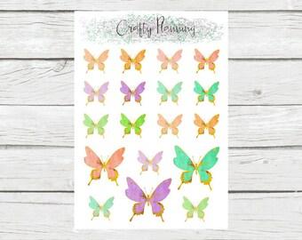 Beautiful Watercolor Butterflies, Pastel Butterflies, Butterfly Stickers
