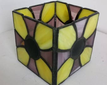 Flower Candle Holders-Tiffany, stained glass, candle holder