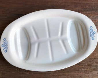 Cornflower blue Corningware roasting pan