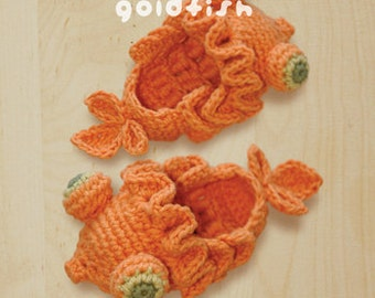 CROCHET PATTERN Goldfish Baby Booties - Symbol Diagram (pdf)