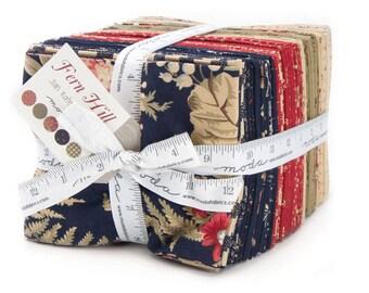 Moda FERN HILL 36 Fat Quarter Bundle 2180AB Fabric Squares By Jan Patek Quilts