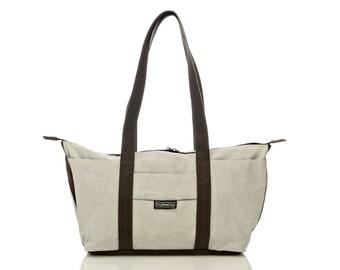 White shoulder bag,Tote bag, laptop bag - Shay tote messenger