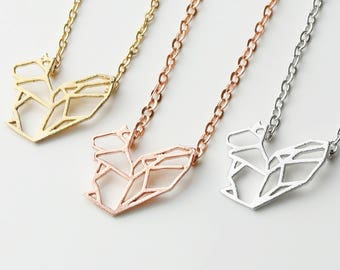 Squirrel Charms Squirrel Jewelry Geometric Necklace Squirrel Necklace Animal Necklace Nature Jewelry - OSN