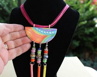Diamonds and Rainbows,lampwork beads,handmade glass beads, beads by Dennis,