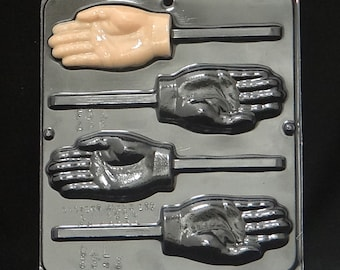 Hand Lollipop Chocolate Candy Mold 3343