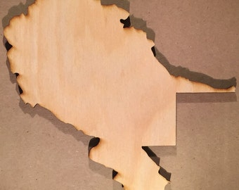 WV West Virginia Wood Cutouts - Shapes for Projects or Other Use