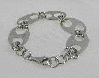 Silver PMC large Link Bracelet