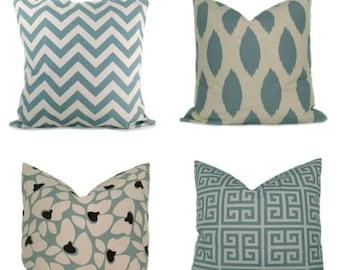 15% Off Sale BLUE PILLOW , Decorative Pillows Euro pillow , Euro Sham , Euro Pillow Covers - Euro Pillow Shams - 26x26 Pillow Cover - 24x24