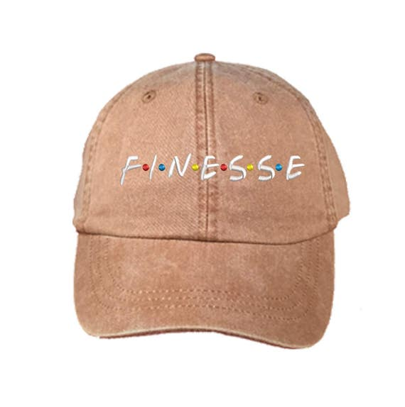 FINESSE Dad Hat Washed Baseball Cap Pigmented Dye Curved Bill Finessed Dad Hats Friends Baseball Hat Best Friends Embroidered Many Colors