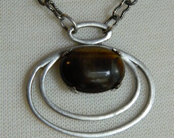 PROTECTIVE ENERGY - Tiger Eye Necklace by Crow Haven Road