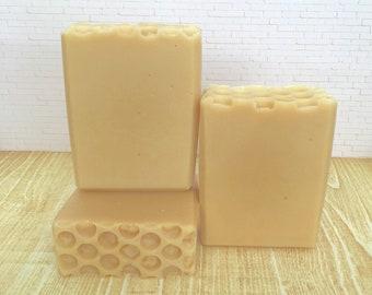 Cream & Honey Unscented Soap, Handmade Soap, Cold Process Soap, Bar Soap, Artisan Soap
