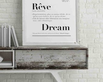 """Poster """"Dream"""" definition"""
