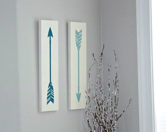 Set of 2 Arrows Signs - Arrow Decor - Nursery Decor - Nursery Decoration - Painted Arrow Sign - Rustic Arrow Decor - Rustic Nursery Sign