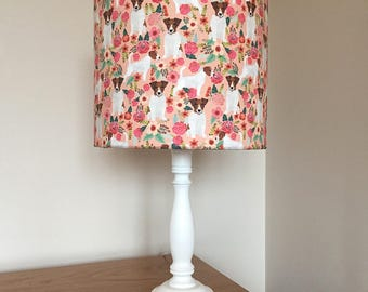 Jack Russell dog print fabric lamp