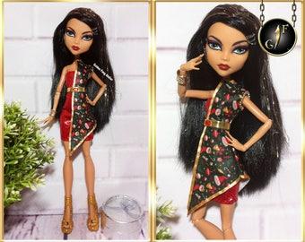 "Monster doll dress ""Christmas Theme"" high fashion clothes"