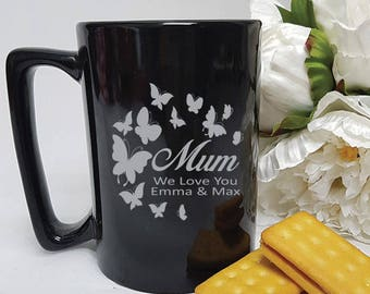 Mum Etched Coffee Mug - Personalised GIft