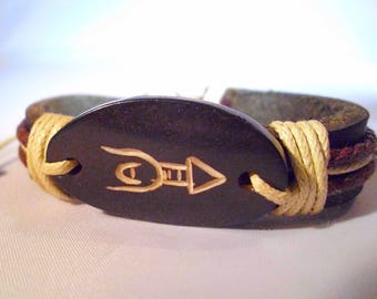 Good luck leather fortune bracelet