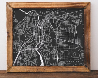 Pawtucket Map Pawtucket Art Pawtucket Map Art Pawtucket Print Pawtucket Printable Pawtucket City Art Rhode Island Art