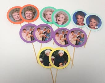 Golden Girls cupcake toppers - 12 pieces