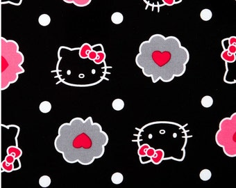 """Hello Kitty Fabric / Nursery Fabric: Thoughts of Love Bubble - Hello kitty heads allover floral 100% cotton Fabric by the yard 36""""x43""""(SC61)"""