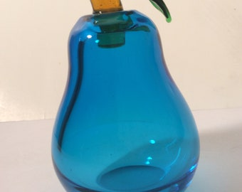 Lovely Blown Pear Murano Perfume bottle with stopper