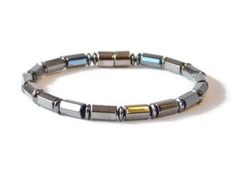Men's Hematite Arthritis Bracelet, Magnetic Jewelry for Pain