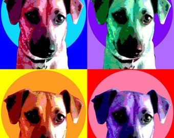 Custom Pet Portrait Pop Art - 11 x 14""