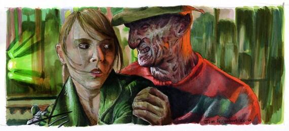 Nightmare on Elm Street - Dream Master Art Poster Print