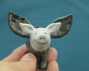 Fabulous Flying Pig made of clay