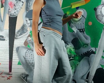 Gray pants, Baggy Gray High Quality Sweatpants, Gray sport pants, Loose fit pants, Men Women gray pants,  Pants, Harem Pants, Gray Trousers