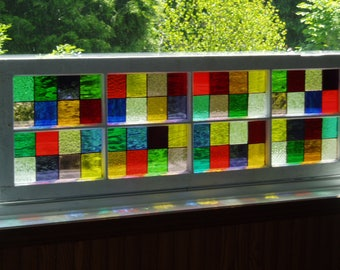 Stained Glass/ Old window frame